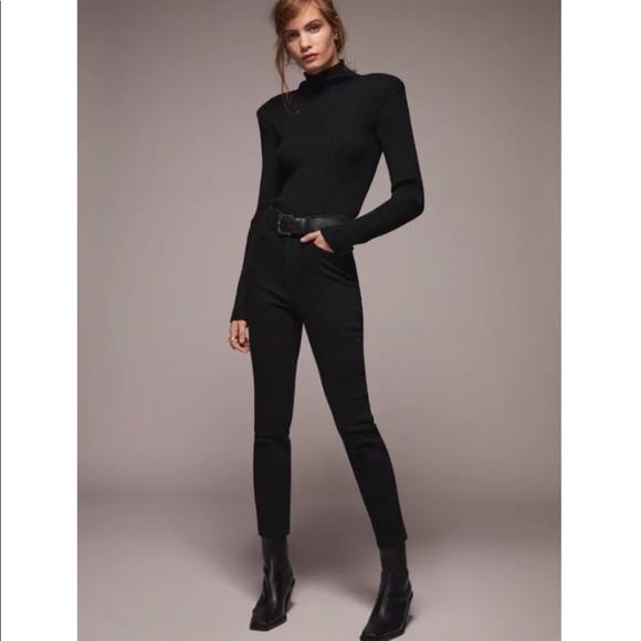 Zara Black Vintage Skinny Ankle Jeans